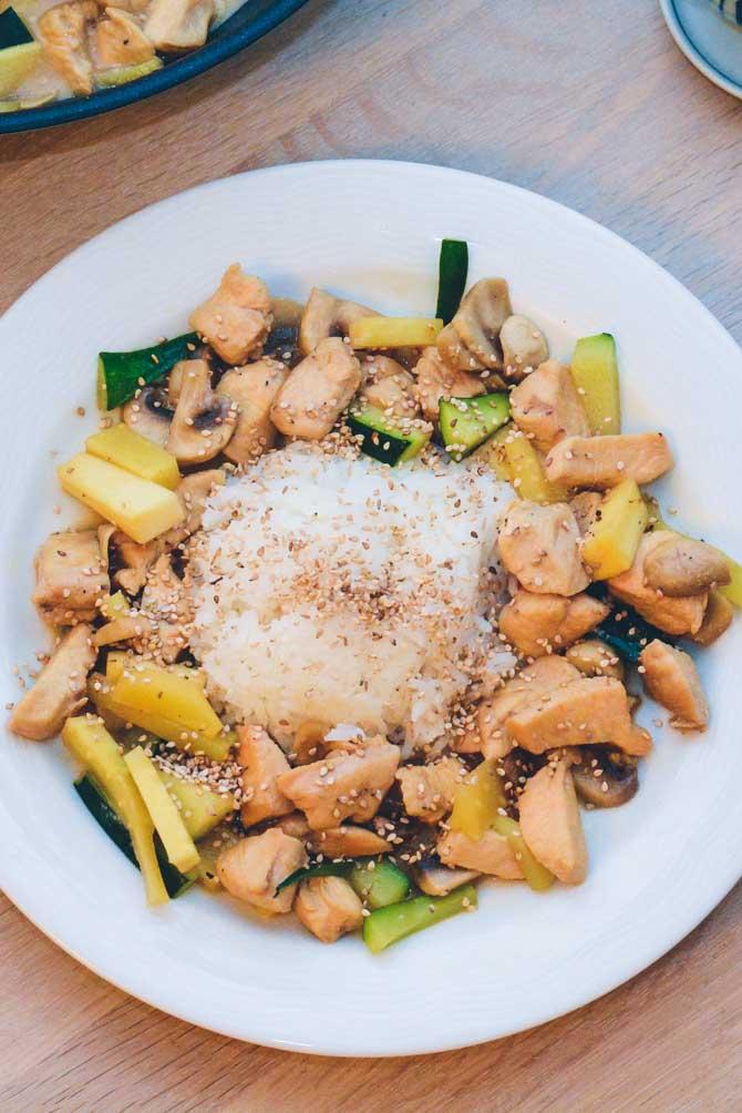 Kylling med kokosmælk opskrift
