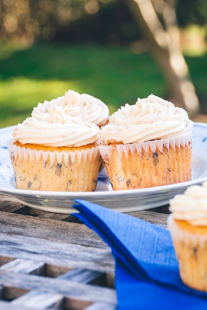 Mandel cupcakes med smørcreme