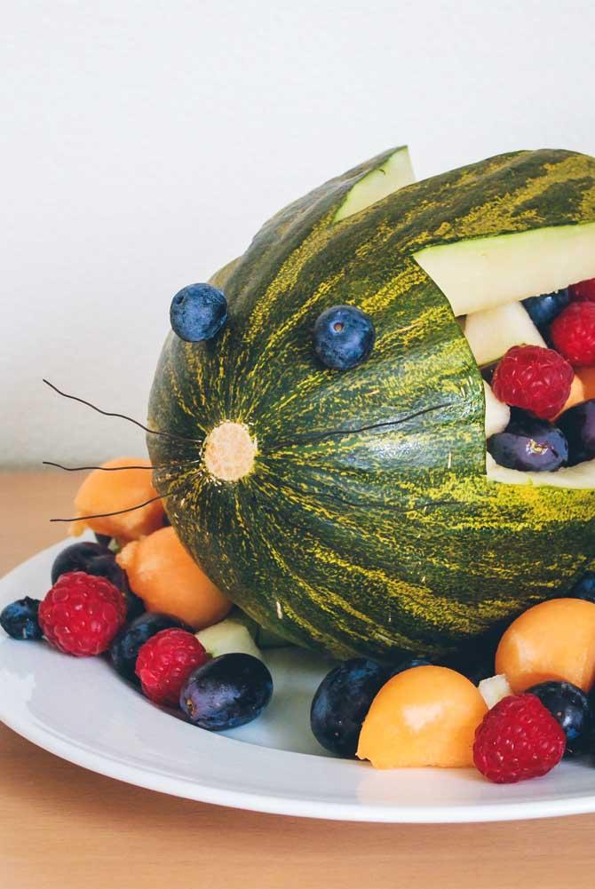 Vandmelon med frugt fra Bageglad