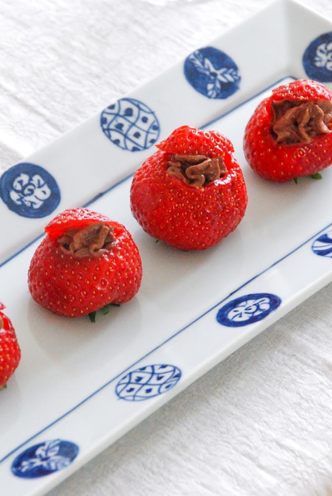 Jordbær med chokolademousse fra Bageglad