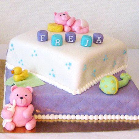 Bamse kage til barnedåb