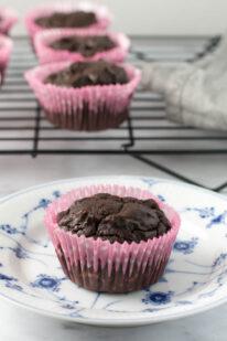 Glutenfri sukkerfri laktosefri chokolade muffins