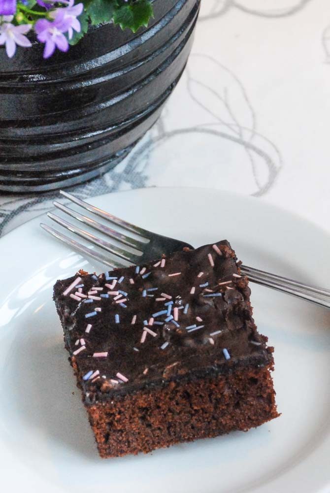Chokoladekage med luksus chokoladeglasur