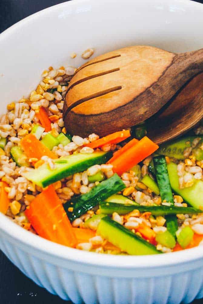 Japansk quinoa salat opskrift