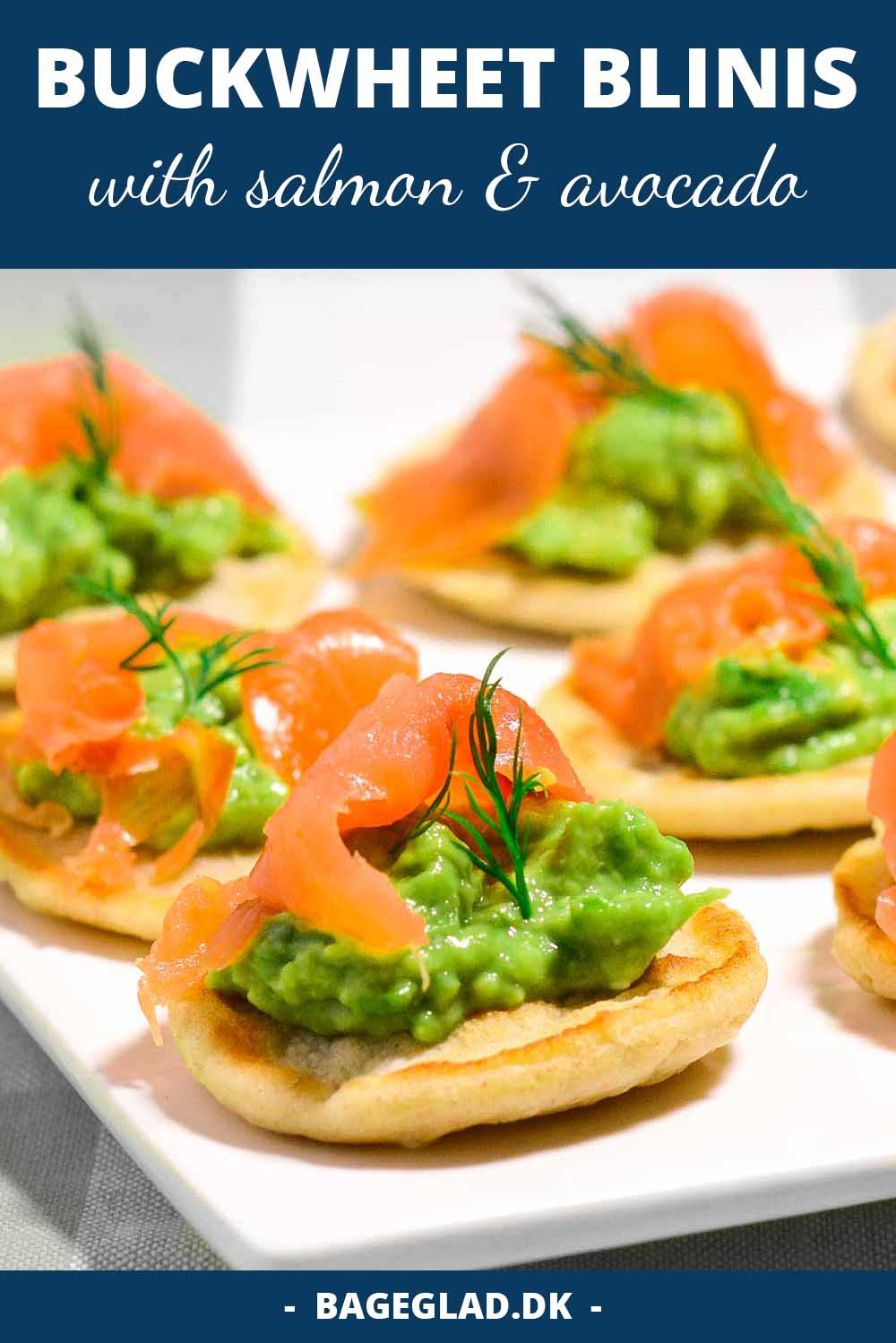 From scratch blinis with avocado and salmon