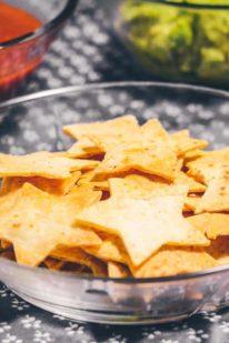 Hjemmelavede tortilla chips fra Bageglad