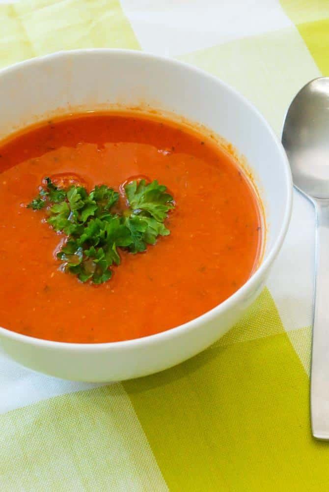 Tomatsuppe opskrift fra Bageglad
