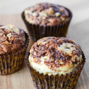 Opskrift på bananmuffins med nutella fra Bageglad