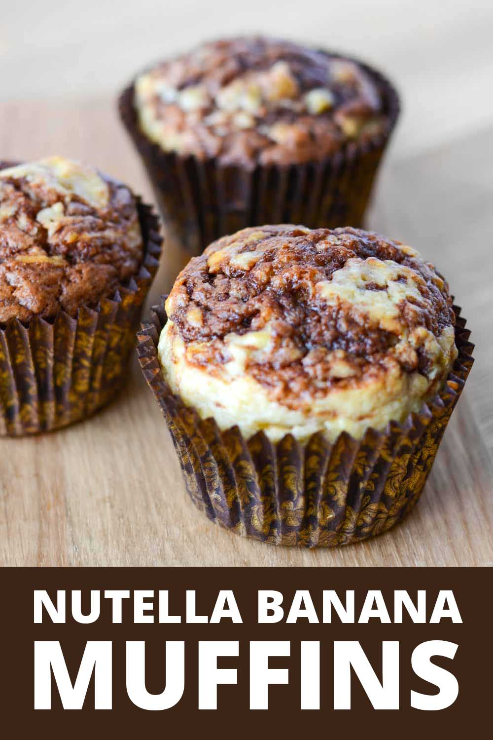 Banana nutella muffins recipe