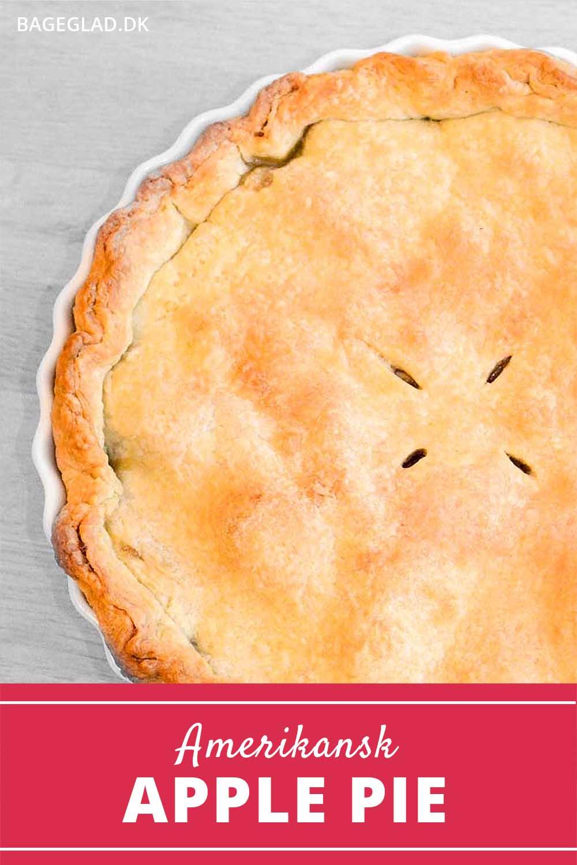 Amerikansk apple pie opskrift
