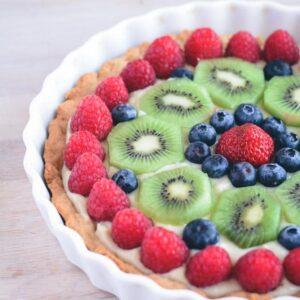 Tærte med frisk frugt fra Bageglad