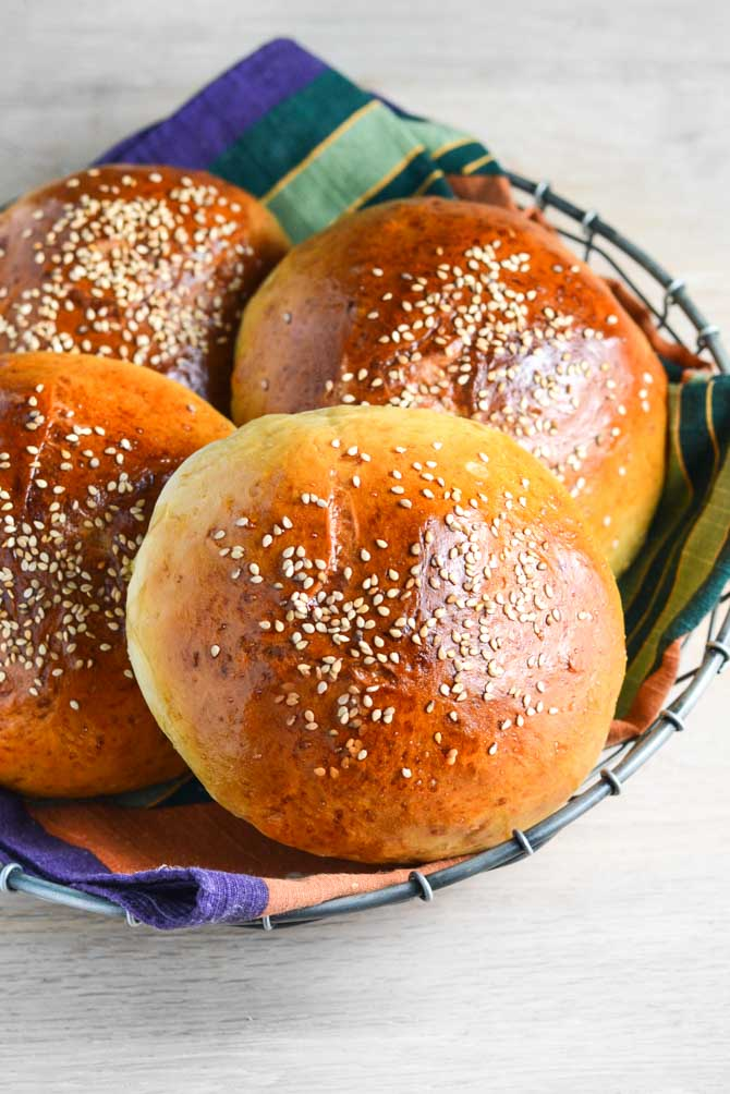 Brioche burgerboller fra Bageglad