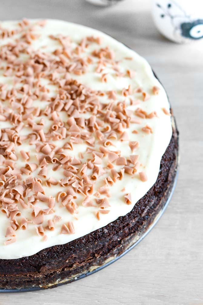 Fudge chokoladekage fra Bageglad