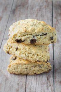 Chokolade scones opskrift fra Bageglad