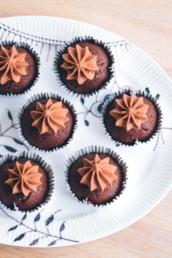 Cupcakes med chokolade