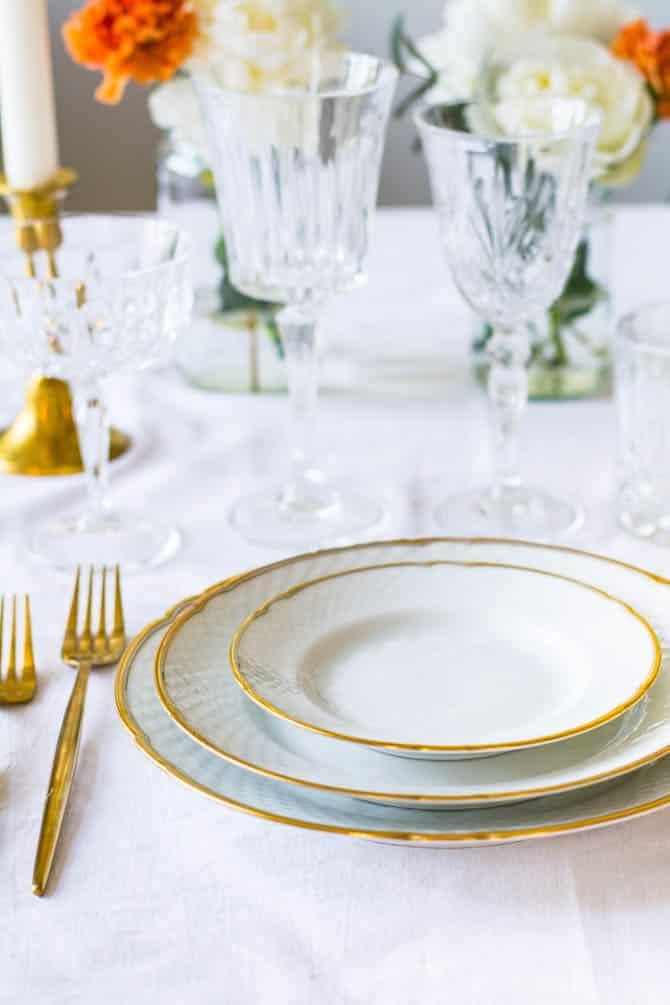 Guld tallerkener