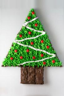 Juletræ brownies opskrift fra Bageglad