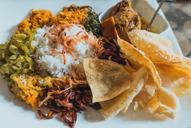 Sri Lankansk rice and curry