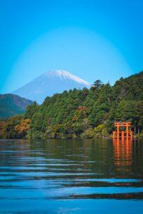 Mount Fushi ved Ashi søen i Hakone Japan