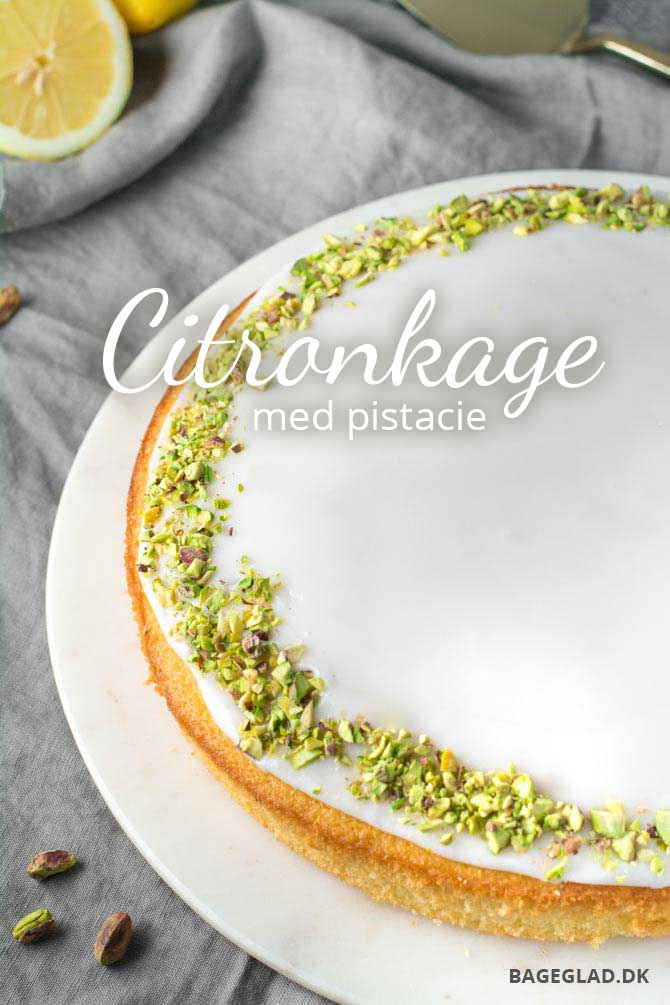 Citronkage med pistacie