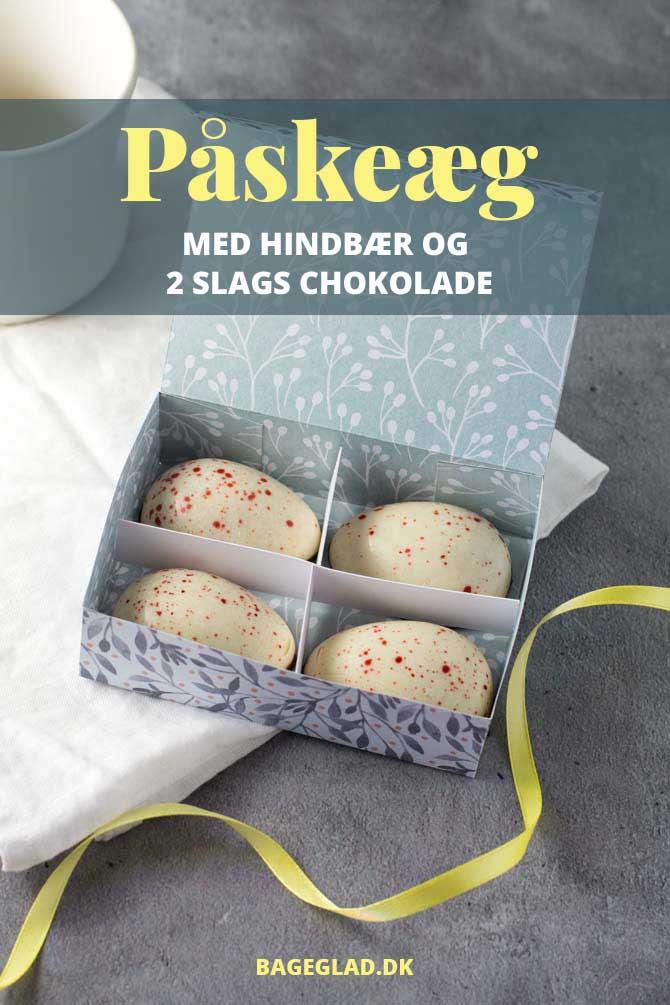 Påskeæg opskrift med hindbær, hvid chokolade og mørk chokolade