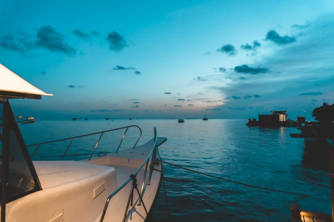 Båd på Maldiverne