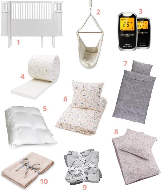 Babyudstyr til sovetid