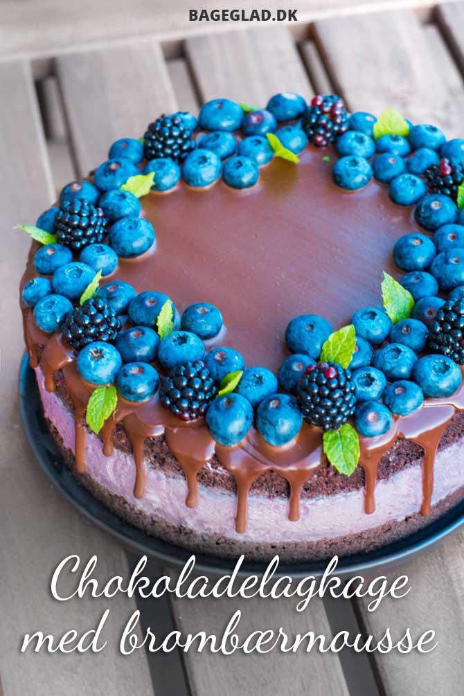 Chokolade lagkage med brombær