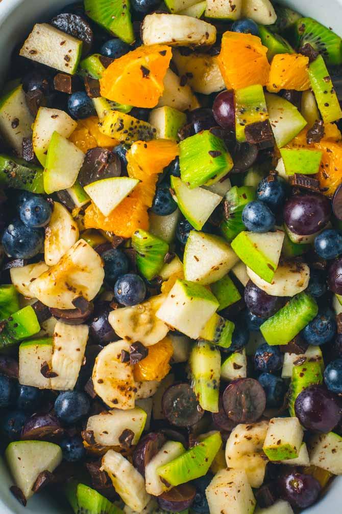 Frugtsalat opskrift med blåbær