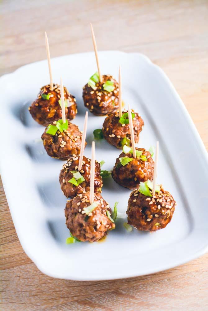 Japanske kødboller med ingefær og soya