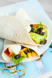 Vegetar protein wraps fra Bageglad