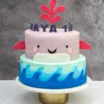 Hval lagkage børnefødselsdag