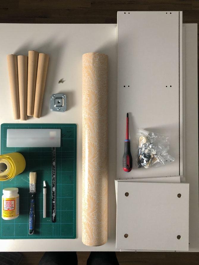 Materialer til IKEA hack bogkasse