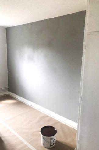 Fuldspartlet væg