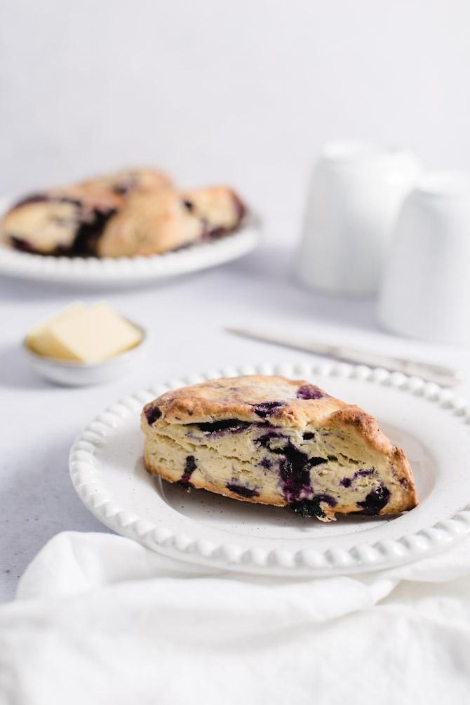 Blåbær scones opskrift