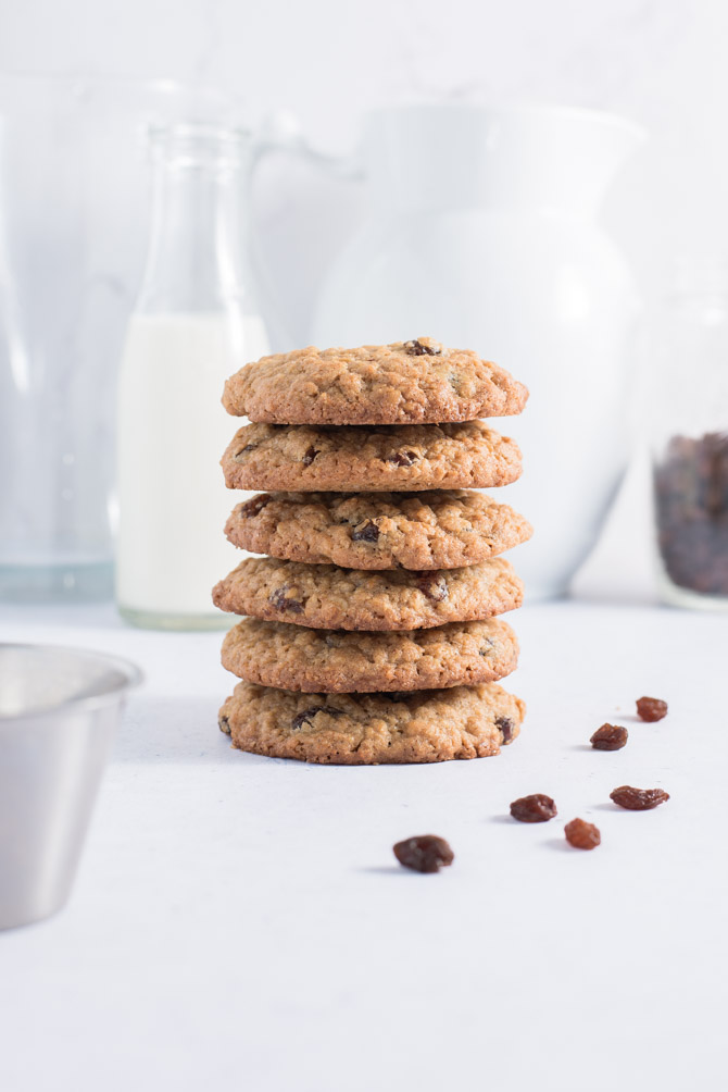Oatmeal raisin småkager